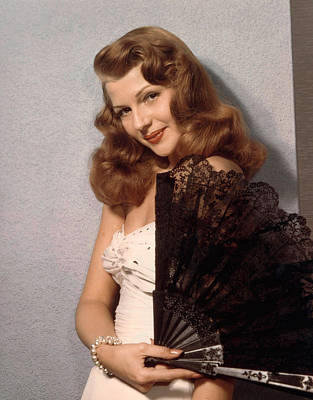 Rita Hayworth, Ca. 1940s Print by Everett