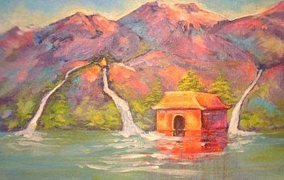Painting - 3 Rivers Temple by Caroline Patrick