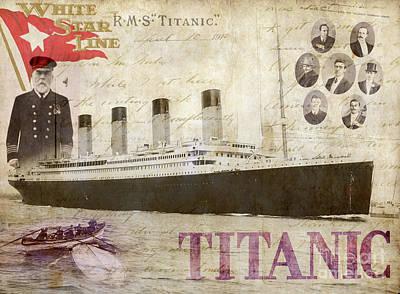 Rms Titanic Art Print by Jon Neidert