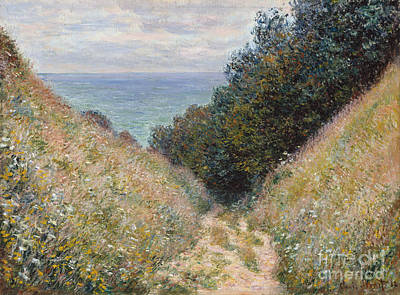 Painting - Road At La Cavee Pourville by Claude Monet