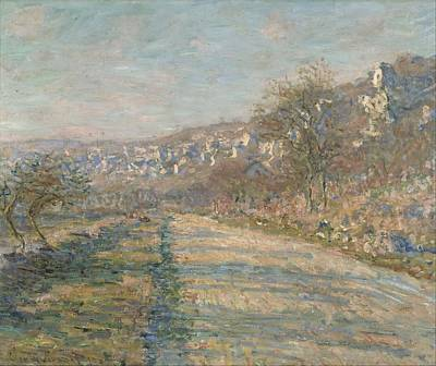 French Village Painting - Road Of La Roche Guyon by Claude Monet