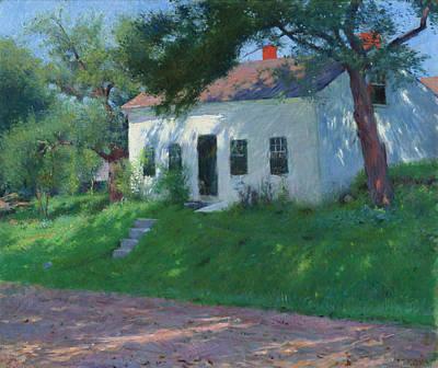 Dennis Miller Wall Art - Painting - Roadside Cottage by Dennis Miller Bunker