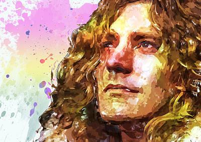 Robert Plant Art Print by Elena Kosvincheva