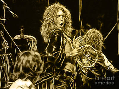 Mixed Media - Robert Plant Led Zeppelin by Marvin Blaine