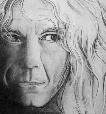 Robert Plant Drawing - Robert Plant by Manon Zemanek