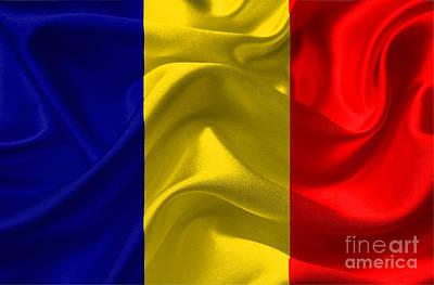 Romania Mixed Media - Romania Flag by Frederick Holiday