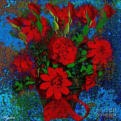 Painting - Roses Are Red by Saundra Myles