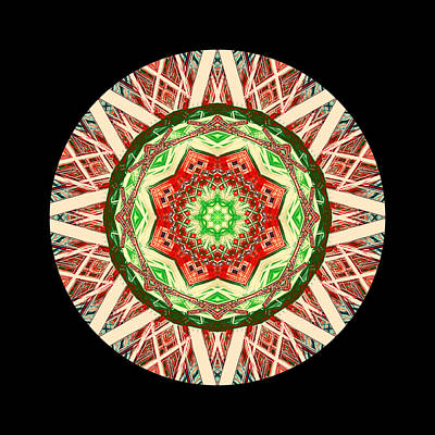 Etnico Drawing - Rosone Caleidoscopico - Mandala - Essenza Rilassamento - Yantra by Orazio Puccio