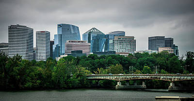 Photograph - Rosslyn Distric Arlington Skyline Across River  by Alex Grichenko