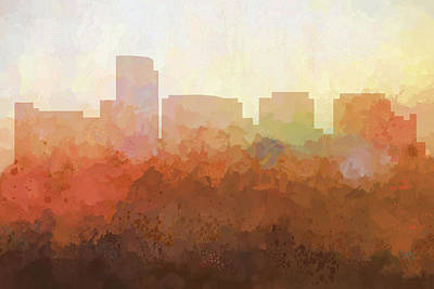 Digital Art - Rosslyn Virginia Skyline by Marlene Watson