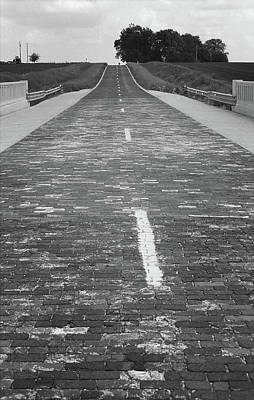 Photograph - Route 66 - Brick Highway by Frank Romeo