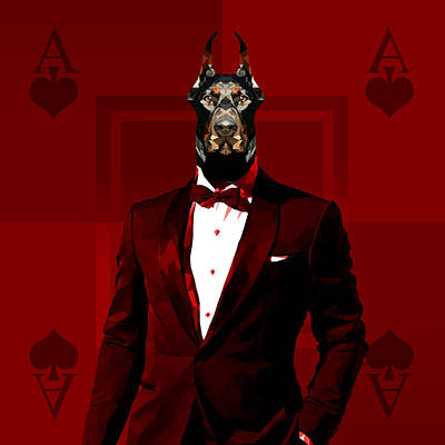 Royal Doberman Art Print