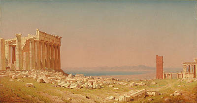 Painting - Ruins Of The Parthenon by Sanford Robinson Gifford