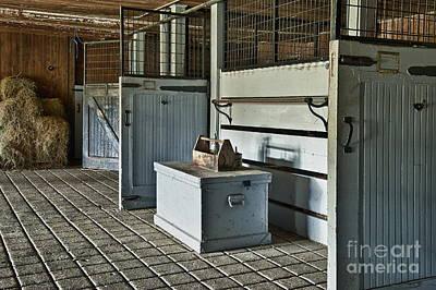 Rustic Barn Interior Photograph - Rustic Stable by John Greim