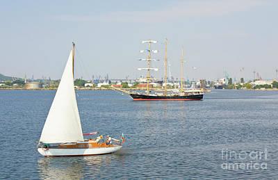 Photograph - Sailing Regatta, Varna by Irina Afonskaya