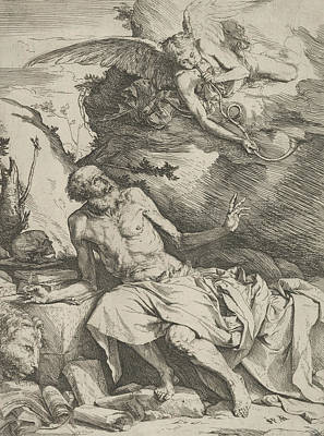 Relief - Saint Jerome Hearing The Trumpet Of The Last Judgment by Treasury Classics Art