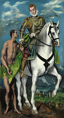Painting - Saint Martin And The Beggar by El Greco