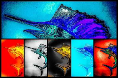 Wall Art - Painting - Salty Sealife by Barry Knauff