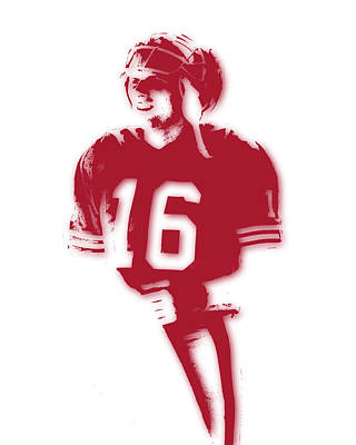 San Francisco 49ers Joe Montana Art Print by Joe Hamilton