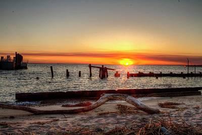 Sandy Hook Digital Art - Sandy Hook New Jersey Sunset by Geraldine Scull