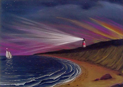 Painting - Sankaty Head Lighthouse Nantucket by Charles Harden