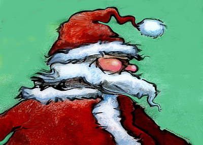 Santa Claus Painting - Santa Claus by Kevin Middleton