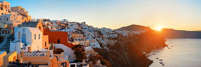 Photograph - Santorini Skyline Sunrise by Songquan Deng