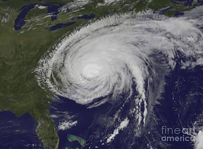 Photograph - Satellite View Of Hurricane Irene by Stocktrek Images