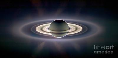 Photograph - Saturn by NASA/Science Source