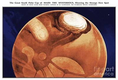 Schiaparellis Mars, Historical Artwork Art Print by Detlev van Ravenswaay