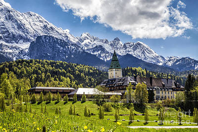 Photograph - Schloss Elmau by Fabian Roessler