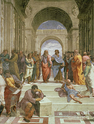 Education Painting - School Of Athens by Raphael