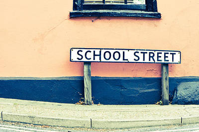 School Street Art Print by Tom Gowanlock