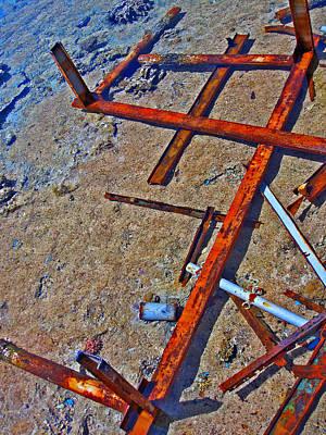 Sea. Rusty Iron And Corals. Original by Andy Za