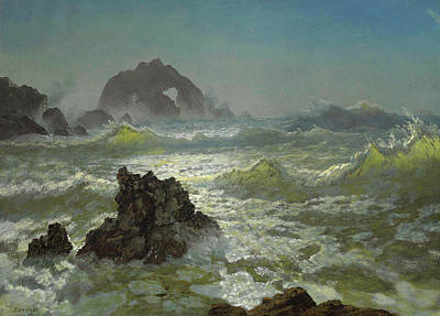 Seal Rock, California Art Print by Albert Bierstadt