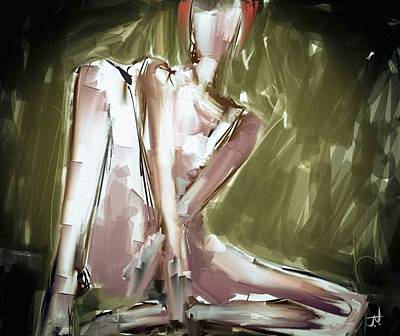 Digital Art - Seated Nude by Jim Vance
