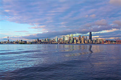 Seattle Photograph - Seattle Skyline Cityscape by SC Heffner