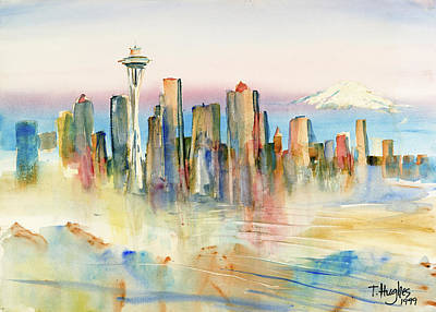 Seattle Skyline Original by Thomas Hughes