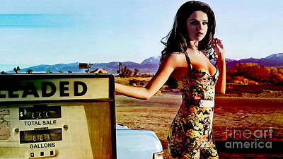 Digital Art - Selena Gomez  by Marvin Blaine