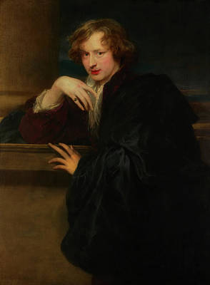 Artist Self Portrait Painting - Self - Portrait by Anthony Van Dyck
