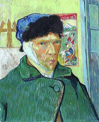 Self Portrait Painting - Self-portrait With Bandaged Ear by Vincent van Gogh