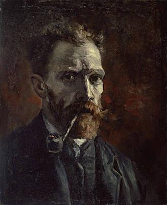 Van Gogh Painting - Self-portrait With Pipe by Vincent van Gogh