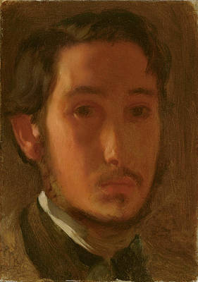 Painting - Self Portrait With White Collar by Edgar Degas