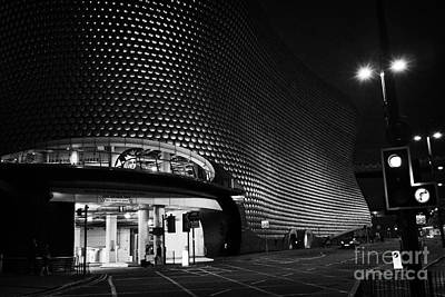 Selfridges Building At Night Birmingham Bullring England Uk Art Print