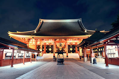 Photograph - Sensoji Temple by Songquan Deng
