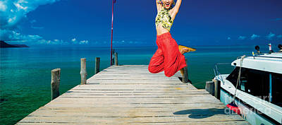 Photograph - Sexy Fashion Model Girl Posing In Paradise Exotic Tropical Beach by Jacek Malipan