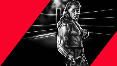 Shawn Michaels Wrestling Collection Print by Marvin Blaine