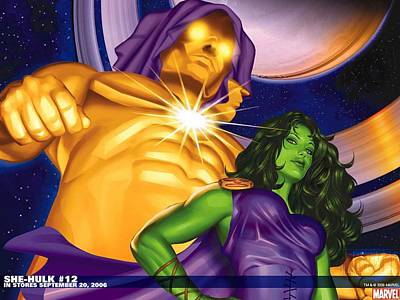 Graphic Digital Art - She-hulk by Super Lovely