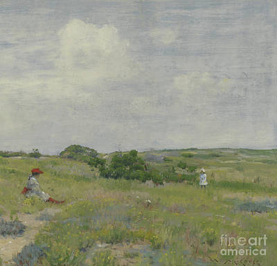 Field. Cloud Painting - Shinnecock Hills by William Merritt Chase
