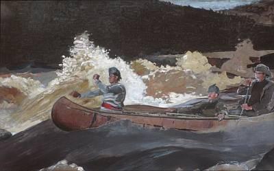 Shooting The Rapids Saguenay River Original by Winslow Homer